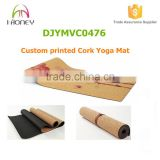 "72"" full length Cork Rubber Yoga Mat custom printed pilate mat                                                                                                         Supplier's Choice"