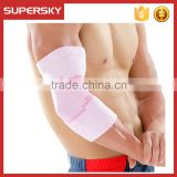 V-666 wholesale custom colorful nylon spandex elastic elbow support sleeve brace sport compression arm sleeve