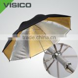 2014 VISICO Photographic Photo Studio Lighting Flash Gold Reversible Umbrella
