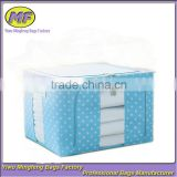 wholesale fashion colorful small circle point Household Items new fabric oxford book storage box