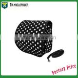 Fashion White Dot Cloth Camera Bag, fuji mini case for Fujifilm Instax Mini 8 Case With Free Shoulder Strap(Black)