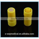 Disposable Medical CE ISO approved Best Yellow luer lock Plastic Sterile Heparin Cap for IV Set