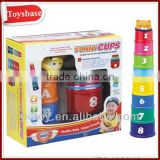 Plastic baby stacking cups toys