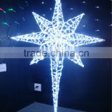 Star shaped led string light,star shape lighting,outdoor christmas star light