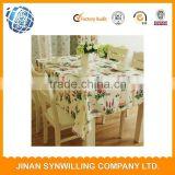 restaurant hotel polyester jacquard table cloth fabric economic environment-friendly cloth in various colors of various sizes