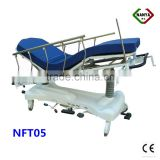 Hydraulic patient stretcher bed, emergency patient trolley