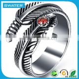 Fashion Jewellery Stainless Steel Snake Shaped Rings
