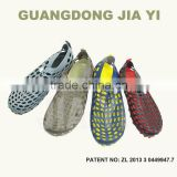 lady and men comfortable hot sell casual shoe, water walking shoe, holey shoes