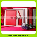 Corporate anniversary gifts business notebook gift set with pen and name card holder 16026