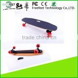 2016 No Foldable 4-wheel Electric Longboard Skateboard, 1800w Dual Drive Hub Motor Skate Board With Samsung Battery
