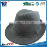 Bulk sale black straw fedora hats with leather band