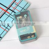 MS Mini in ear light blue android earphone for cell phone and laptop