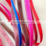 "Wholesale 3/8"" 10mm grosgrain jumper wire edges ribbon for girl baby hair bows materials"