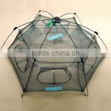 New Folded 80x80cm Floding Crab fish Minnow Fishing Trap Cast Net / mesh fish trap / Fishing Shrimp Net