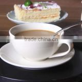 China wholesale bulk ceramic tea cup and saucer set modern cafe porcelain cappuccino coffee cup and saucer set with custom logo