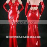 100%handmade natural Latex catsuit Latex dress latex evening latex dress