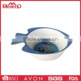 Melamine excellent plastic fish shape painting ceramic bowls