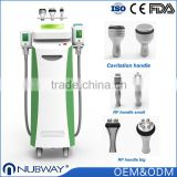 Lose Weight FDA 10.4 Inch Touch Screen 5 Handles Cool Tech Slimming Fat / Cellulite Removal Cryolipolysis Machine Price 50 / 60Hz