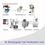 semi-automatic rectangular oil can making equipment line