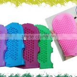 2014 popular bathroom accessories silicone massage glove