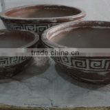 Viet Nam Rustic Outdoor Glazed Pots - Round and medium Style