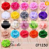 2016 Factory wholesale decorative fabric flower for girl's dresse have diffrrent colors