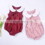Wholesale children's boutique clothing fashion infant Newborn jumpsuit baby clothes summer kid Clothing plain baby rompers