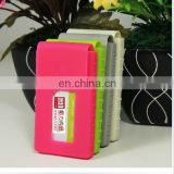 Competitive price customize color silicone business card holder with magnetic button
