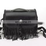 HMB-0008A LEATHER MOTORCYCLE SISSY BAR BAG FRINGES HEAVY DUTY