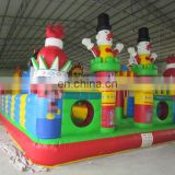 Inflatable soft playground bouncy park inflatable soft foam indoor playground