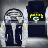 Football Bay Packers Zipper Thicken outdoor Hoodie sports Jacket