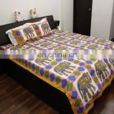 Royal low price jaipuri bedsheets handmade design 100% cotton bedding set for living room bedsheet