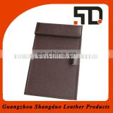 Convenience Design Leather Writing Pad Holder With Pen Holder