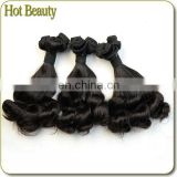 Natural Color 7A Spring Curl Virgin Funmi Hair Bouncy Curl