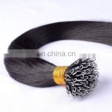 High quality double drawn human hair cold fusion hair extensions