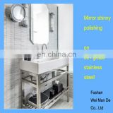 single sink bathroom vanity base of 304stainless, chrome polished finishing