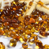 Shandong zhuyuan export recycle glass bead intermix 1-3mm3-6mm6-9mm orange yellow aggregates glass bead