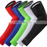 Wholesale sports elastic elbow support brace warmers non-slip exercise friendly cycling arm compression sleeve