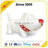 Dog cartoon shape custom large ceramic non-phthalate plastic saving bank                                                                         Quality Choice