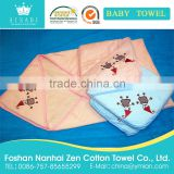 china customized design/cartoon pattern printing pattern pure cotton infant/baby/kids/children hood towel