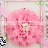 2015 flower headband Korean peony flower hair accessories young girl headband knitted MY-AC0022