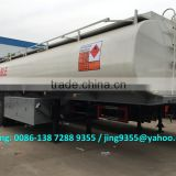 Export to the Philippines 3-axis oil tanker trailer, 30KL oil tanker semi trailers for sale