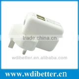 USB Power Adapter Wall Mains 10W Charger UK Plug for iPad 2 3 iPhone 4S 5 5S 5C