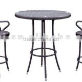 Rattan Bar furniture with swivel stool JC-D158