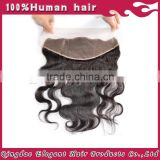 Qingdao hot hair product body wave indian remy hair comfortable swiss lace frontal closure