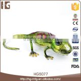 High quality metal gecko shape lucky art home decor