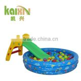 Children Plastic Slide With Inflatable Ball Pool
