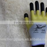 13gauge nylon latex rubber work gloves with two colors, breathable thin safety working gloves china wholesale