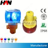 IP68 Yellow Solar Flashing Warning Light ( Used in Ships,Boats,Yacht,Buoys,Mining Truck Roads,Airport etc)