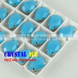 Wholesale Teardrop Crystals With Metal Claws Settings Fancy Stones, Fancy Rhinestone Sew On Clothing Accessories